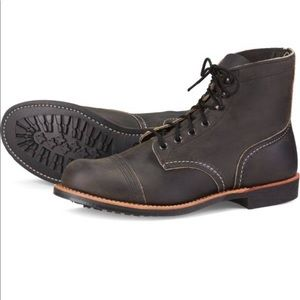 Red Wing Men's Iron Ranger Boot, size 13, charcoal